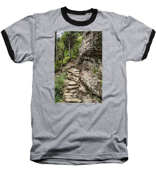Alum Cave Trail Baseball T-Shirt by Debbie Green