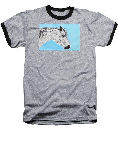Baseball T-Shirt featuring the painting Alvaro Stallion by Jeanne Fischer