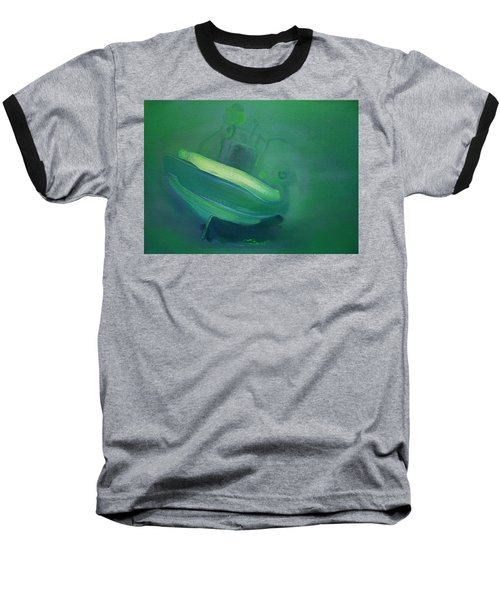 Baseball T-Shirt featuring the painting Alvor Working Boat  by Charles Stuart