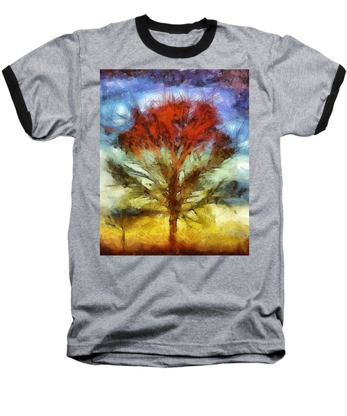 Baseball T-Shirt featuring the drawing Always Reaching Up by Joe Misrasi
