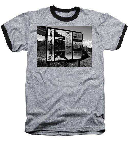Alyeska Pipeline Baseball T-Shirt by Juergen Weiss