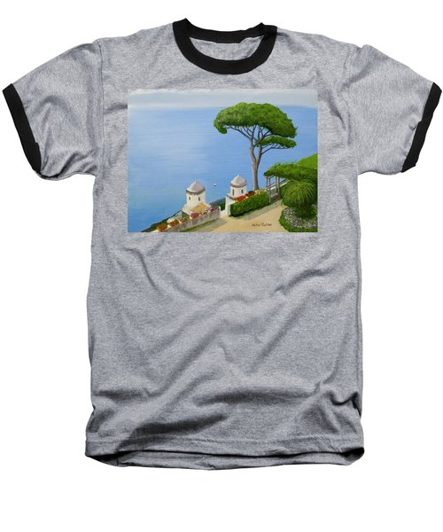 Amalfi Coast From Ravello Baseball T-Shirt by Mike Robles