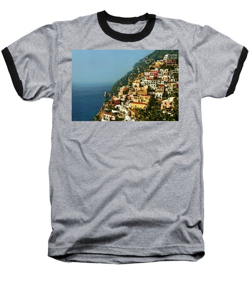 Amalfi Coast Hillside II Baseball T-Shirt by Steven Sparks