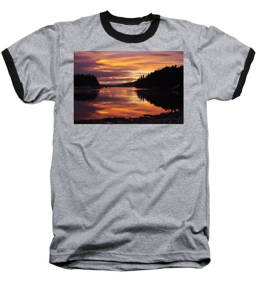 Amalga Harbor Sunset Baseball T-Shirt