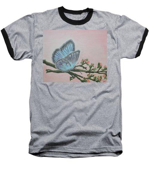 Amandas Blue Dream Baseball T-Shirt by Felicia Tica