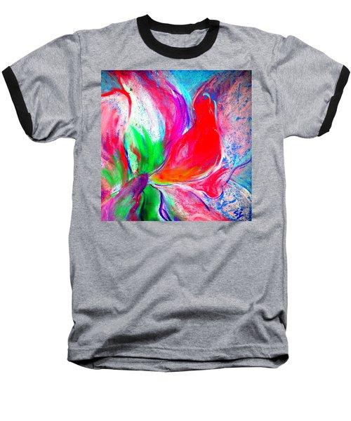 Funky Amaryllis Lily Baseball T-Shirt