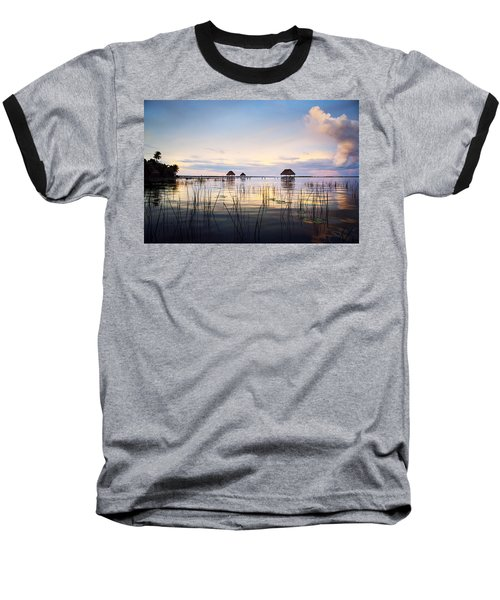 Amazing Bay Sunset Baseball T-Shirt