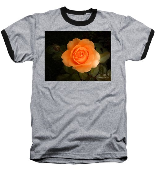 Amber Flush Rose Baseball T-Shirt