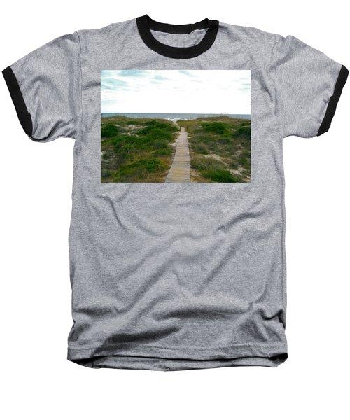Amelia Island Beach Baseball T-Shirt