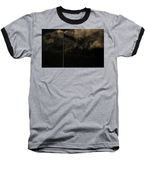 Baseball T-Shirt featuring the photograph America....... by Jessica Shelton