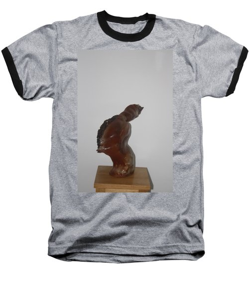 Baseball T-Shirt featuring the sculpture American Athlete...inspiration Gail Devers by Gloria Ssali