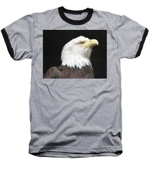 American Bald Eagle Profile Baseball T-Shirt