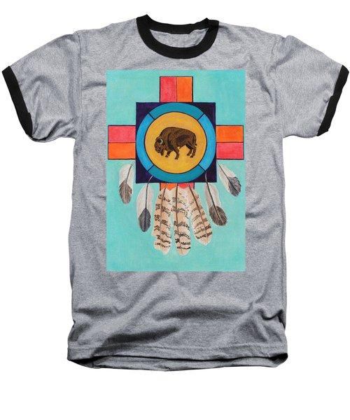 American Bison Dreamcatcher Baseball T-Shirt