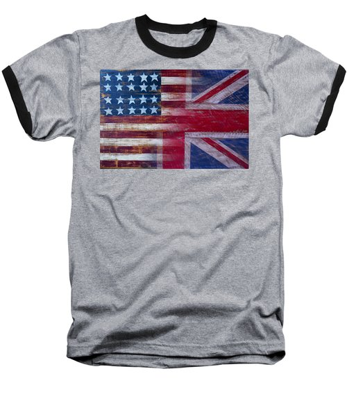 American British Flag Baseball T-Shirt by Garry Gay