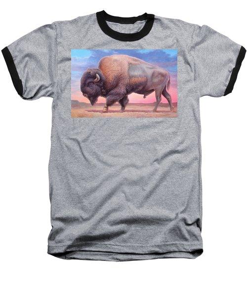 American Buffalo Baseball T-Shirt by Hans Droog