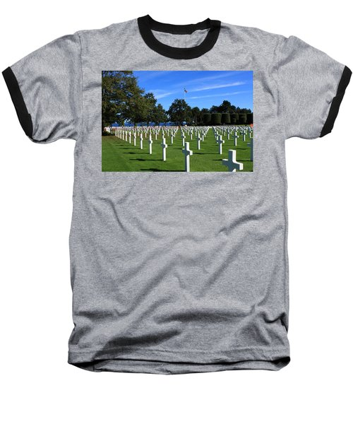 American Cemetery Normandy Baseball T-Shirt