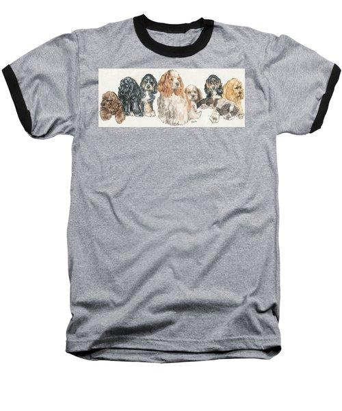 American Cocker Spaniel Puppies Baseball T-Shirt