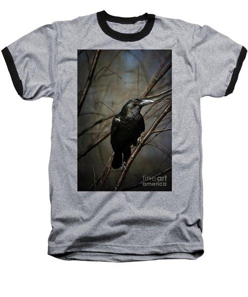 American Crow Baseball T-Shirt by Lois Bryan