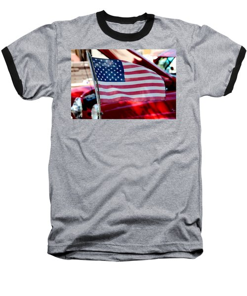 Baseball T-Shirt featuring the photograph American Dream by Toni Hopper