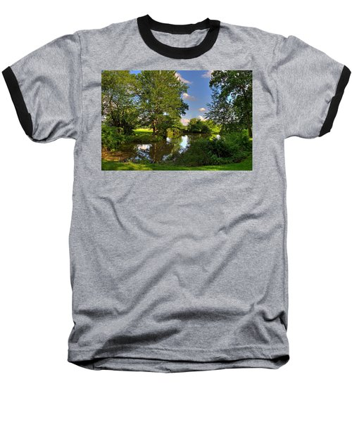 American Farm Pond Baseball T-Shirt