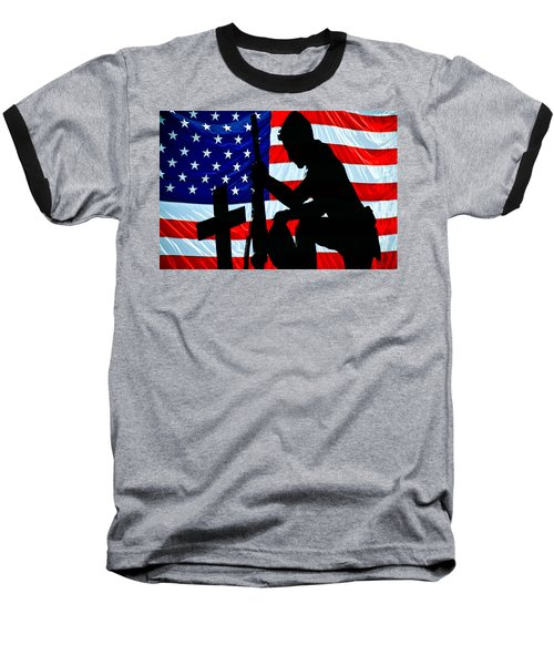 A Time To Remember American Flag At Rest Baseball T-Shirt