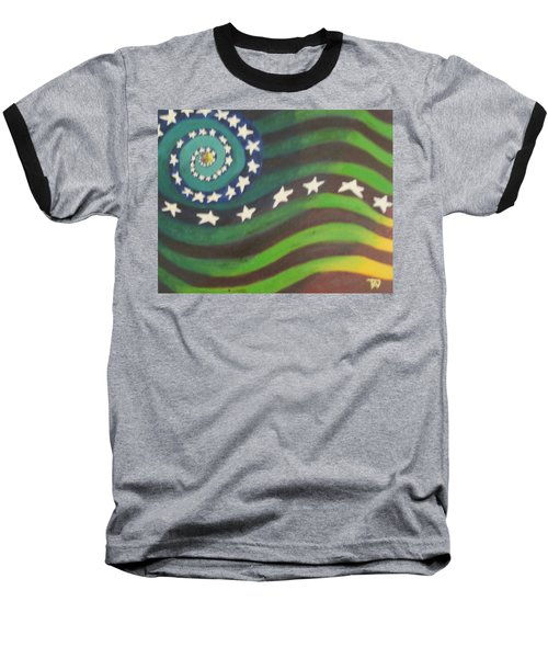 American Flag Reprise Baseball T-Shirt