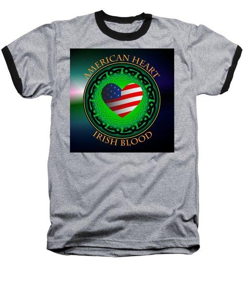 American Heart Irish Blood Baseball T-Shirt