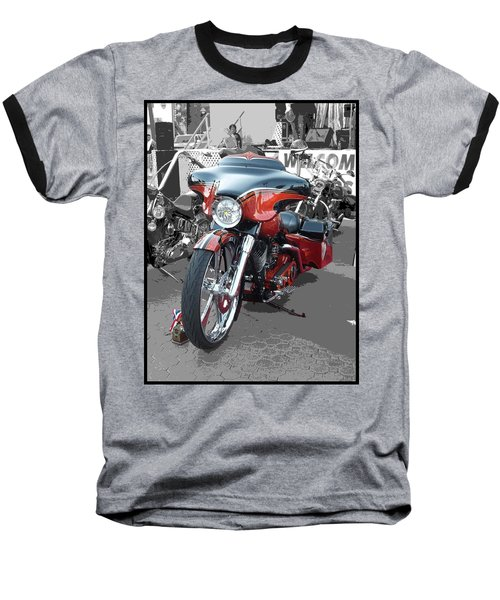 Baseball T-Shirt featuring the photograph American Heat - Palm Springs by Glenn McCarthy Art and Photography
