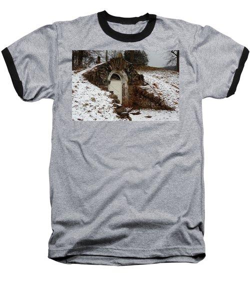 American Hobbit Hole Baseball T-Shirt by Michael Porchik