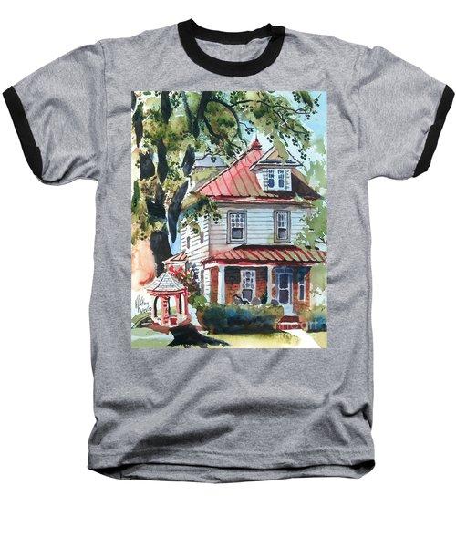 American Home With Children's Gazebo Baseball T-Shirt