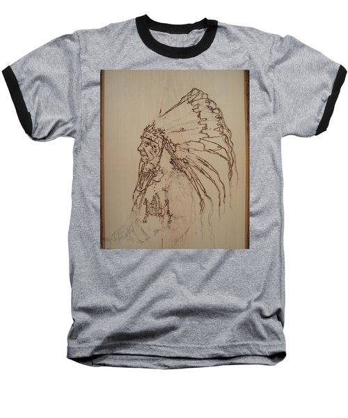 American Horse - Oglala Sioux Chief - 1880 Baseball T-Shirt by Sean Connolly