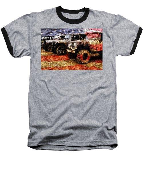 American Jeeps Baseball T-Shirt