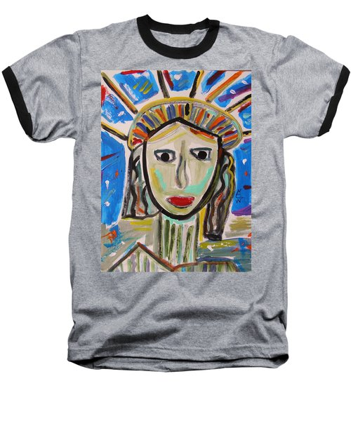 American Lady Baseball T-Shirt by Mary Carol Williams