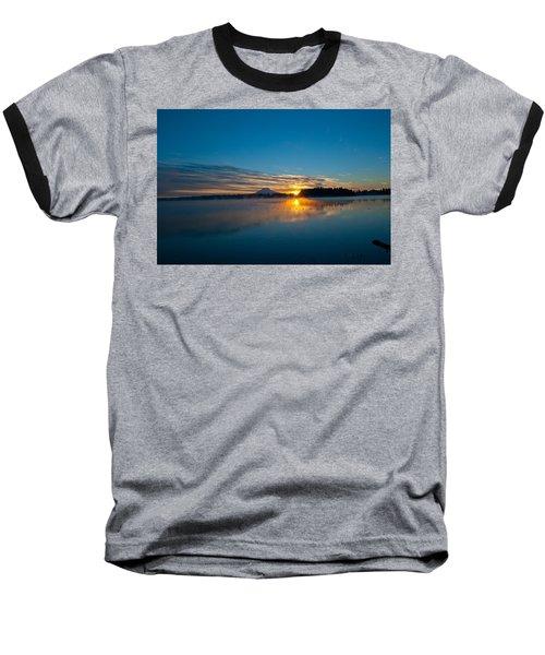 American Lake Sunrise Baseball T-Shirt by Tikvah's Hope