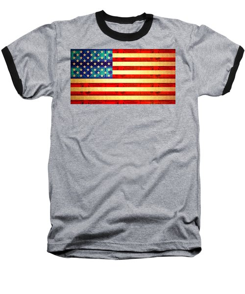 American Money Flag Baseball T-Shirt