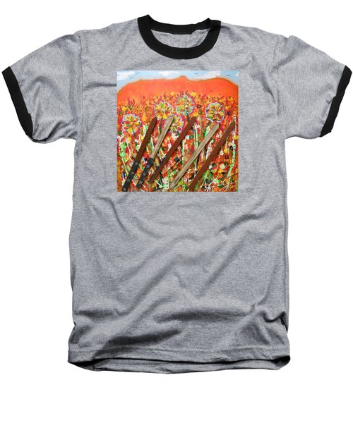 American Mornin' Flower Garden Baseball T-Shirt