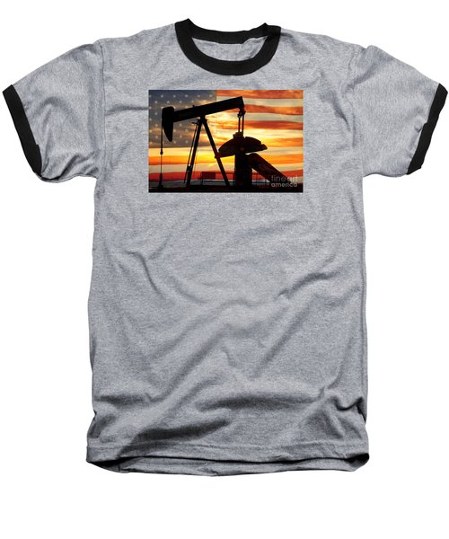 American Oil  Baseball T-Shirt by James BO  Insogna