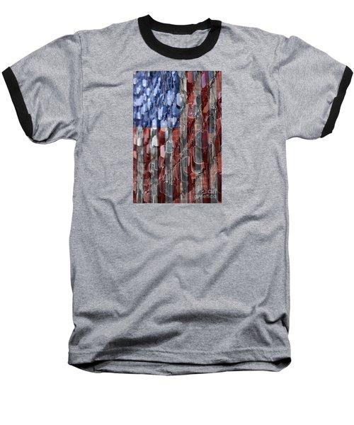 American Sacrifice Baseball T-Shirt by DJ Florek