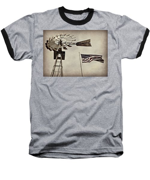 Americana Baseball T-Shirt by Chris Berry