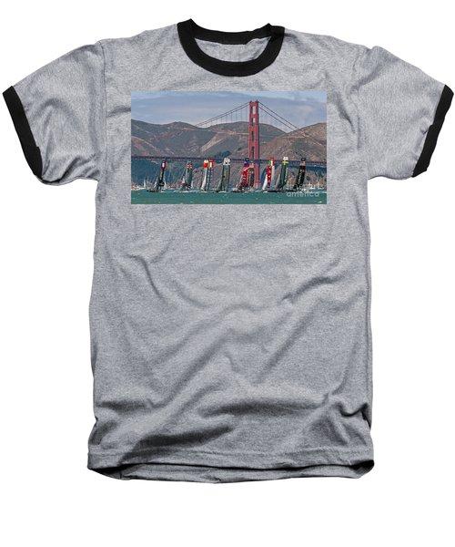 Americas Cup Catamarans At The Golden Gate Baseball T-Shirt