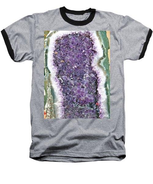 Amethyst Geode Baseball T-Shirt