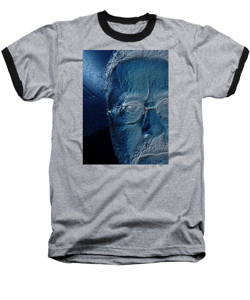 Amiblue Baseball T-Shirt by Jeff Iverson