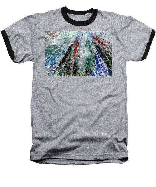 Amid The Falling Snow Baseball T-Shirt by Seth Weaver
