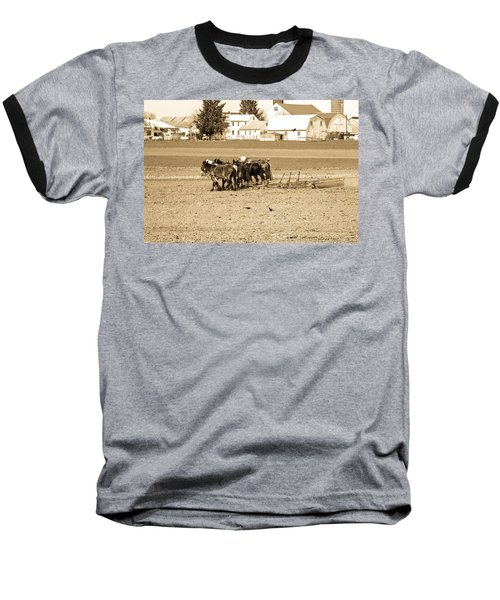 Amish Farm Baseball T-Shirt by Menachem Ganon