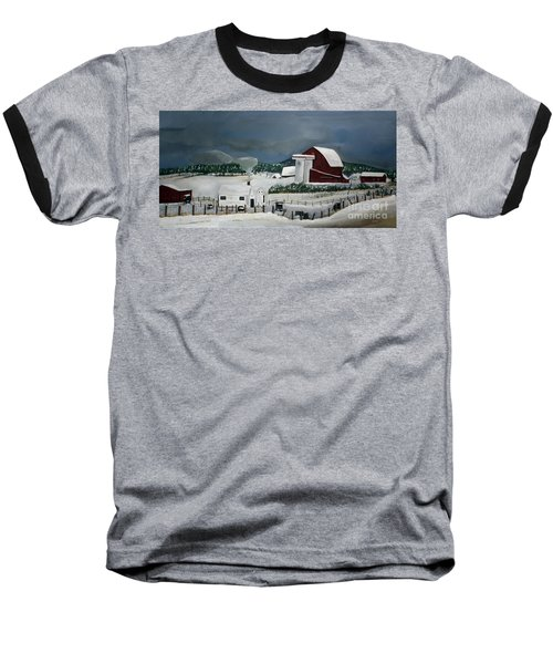Amish Farm - Winter - Michigan Baseball T-Shirt