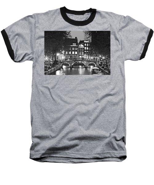Amsterdam Bridge At Night / Amsterdam Baseball T-Shirt