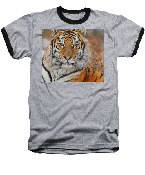 Amur Tiger Magnificence Baseball T-Shirt