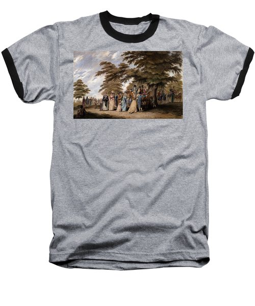An Airing In Hyde Park, 1796 Baseball T-Shirt by Edward Days