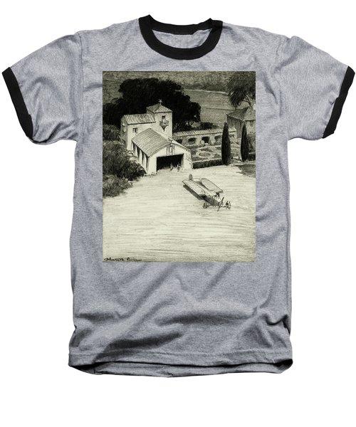 An Airplane Hangar Baseball T-Shirt