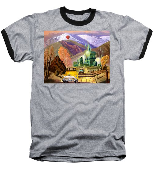 Baseball T-Shirt featuring the painting Trucks In Oz by Art James West